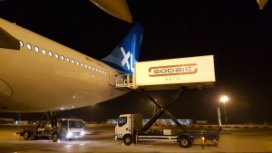Camion Sodaic sur appareil XL Airways